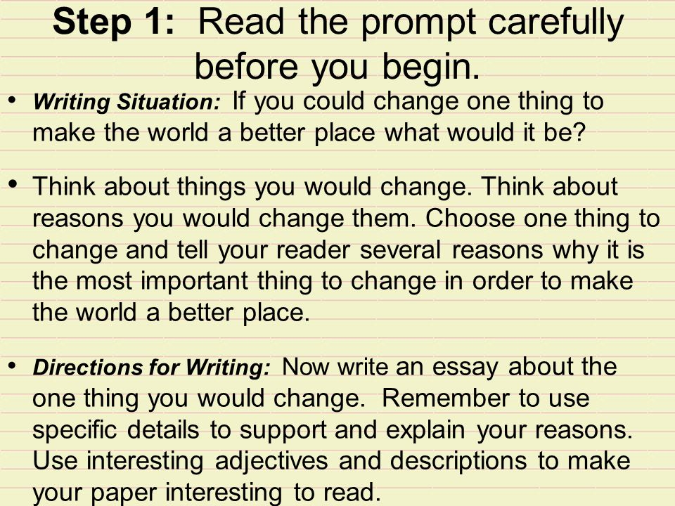 change places essay So, what would you do and what would you change these are the main questions you have to it is your if i can change the world essay, and you may talk about anything that you think needs change.