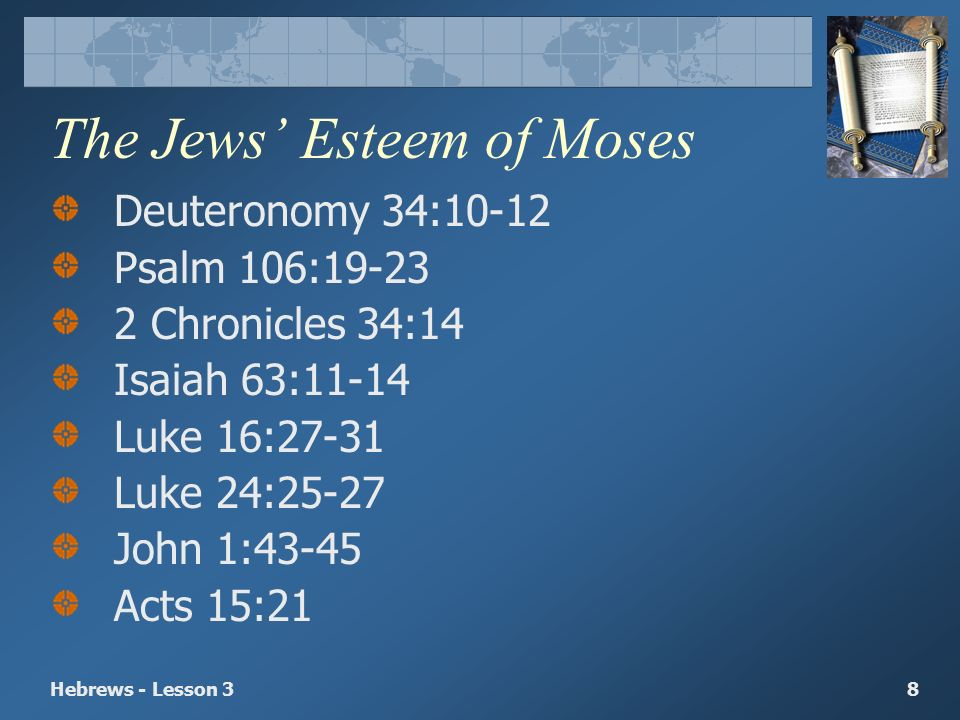Jesus Better Than Moses - ppt video online download