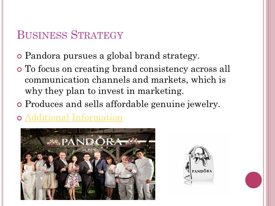 pandora marketing strategy Entrepreneur mentor and business consultant, denyse whillier, explains the key business lessons she learnt from pandora, after a talk at red magazine's.