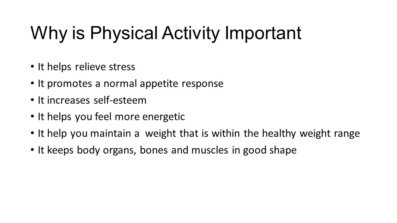 why is physical activity important as it relates to nutrition and health