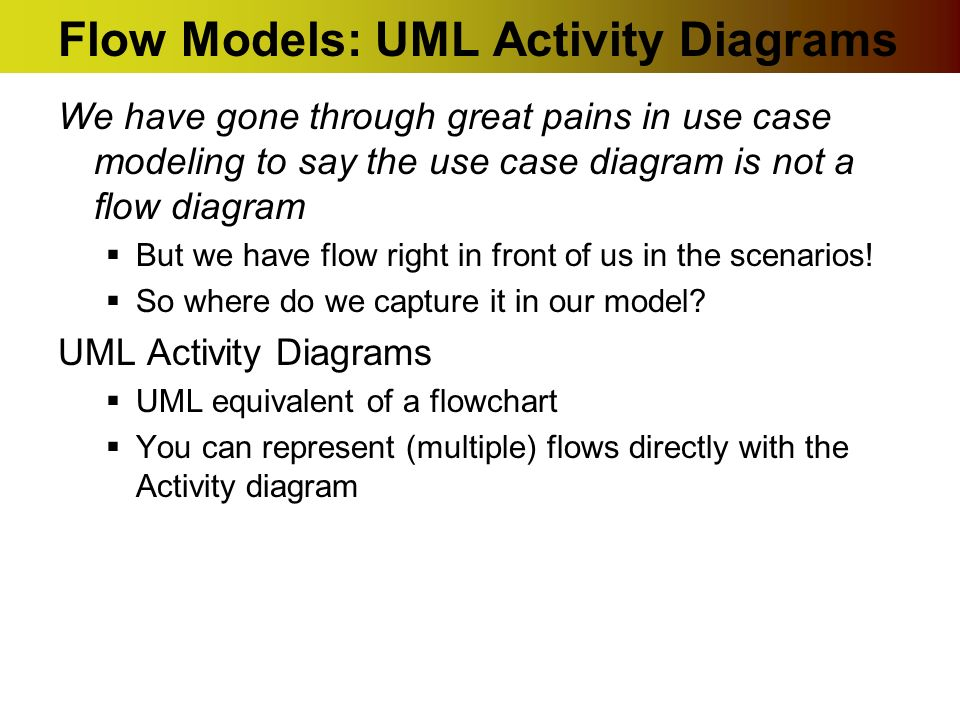 Uml activity diagrams ppt download flow models uml activity diagrams ccuart Image collections