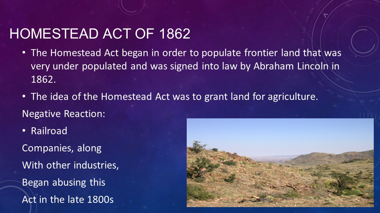 Today s benchmark ss a ppt video online download for Is there still a homestead act