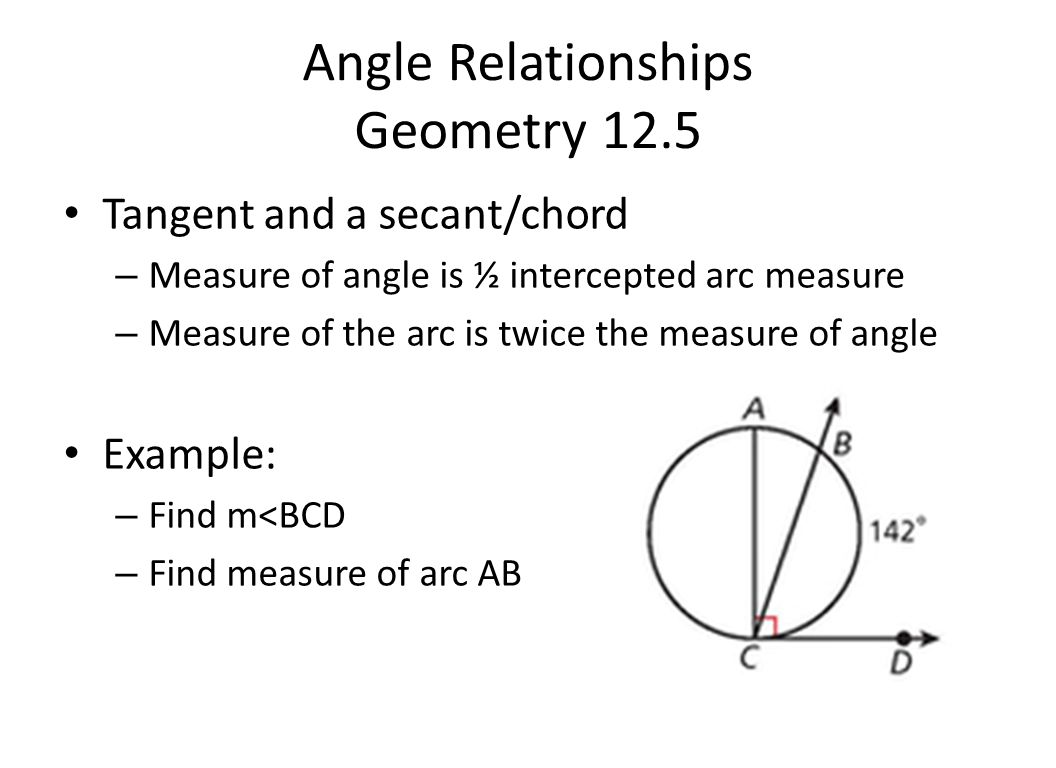 Circles ppt video online download 18 angle relationships geometry 125 hexwebz Choice Image