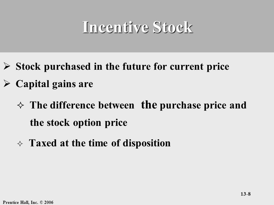 Incentive stock options cost basis
