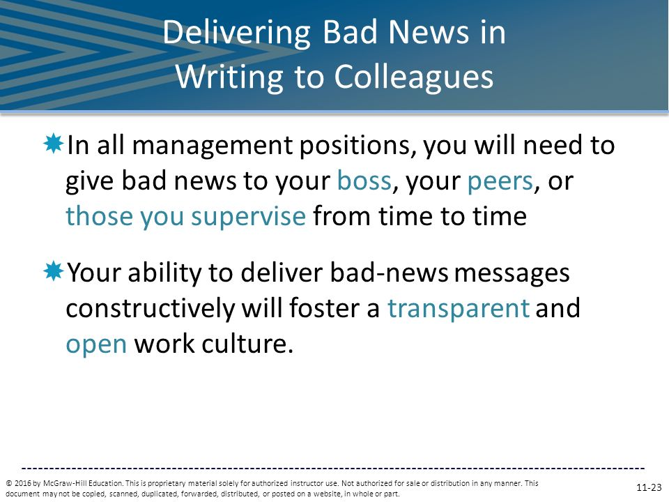 bad news message View test prep - chapter 11 - business communication from business 3350 at university of houston chapter 11 exam: 1 when bad-news message.