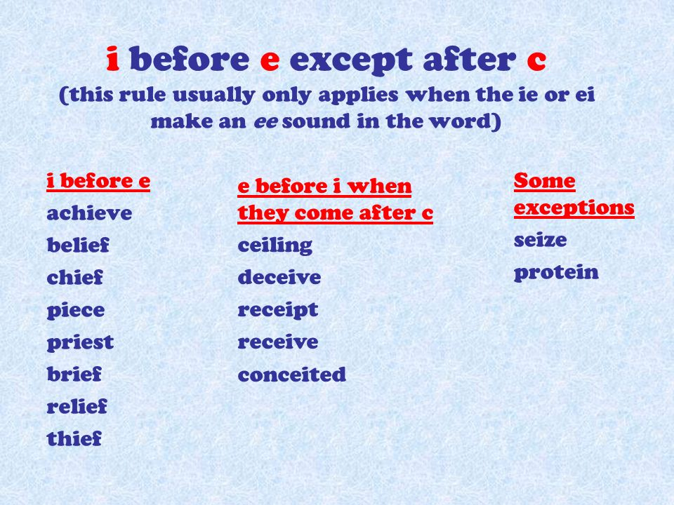 Spelling some rules ppt video online download 2 i sciox Image collections