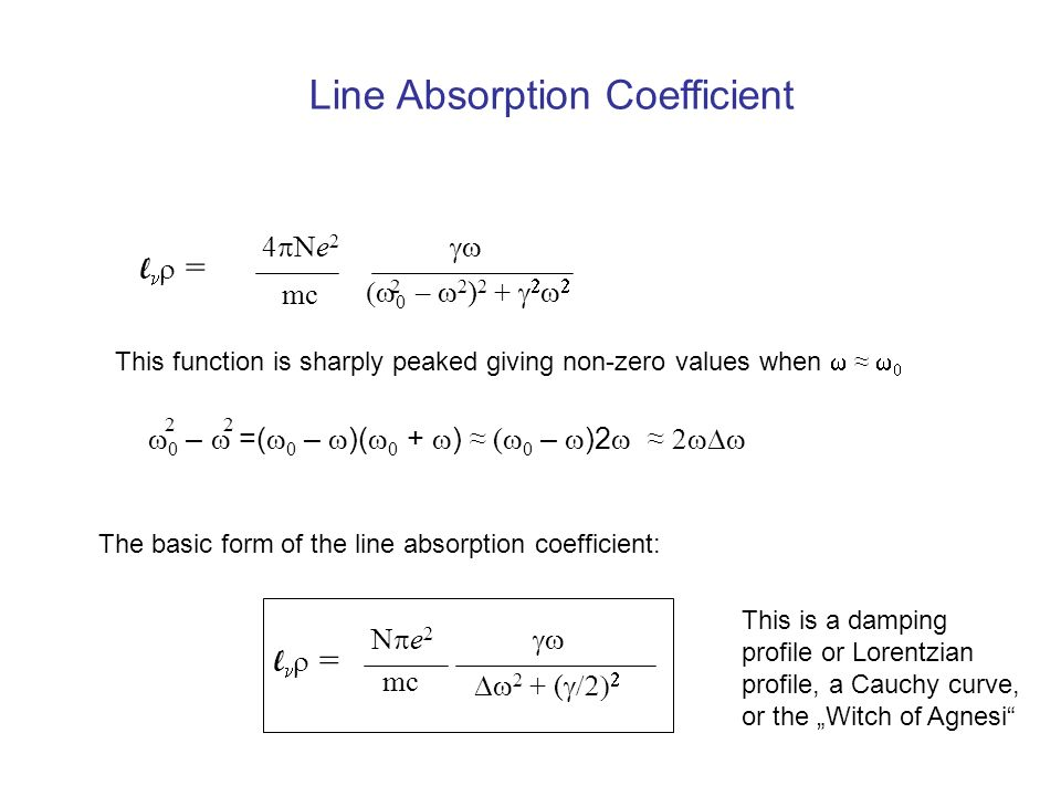 The Formation of Spectral Lines - ppt download