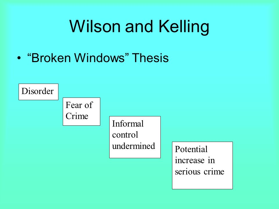 Broken windows thesis