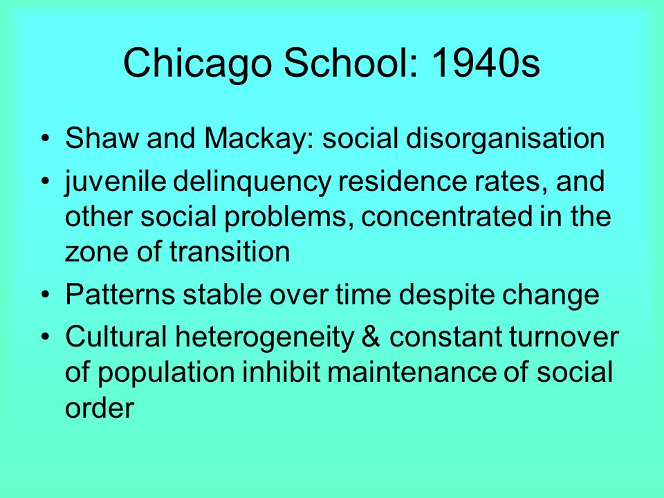 sociology and social disorganization social By the turn of the 20th century, social disorganization theory had largely died out in its original form it was replaced with (a) research paying tribute.