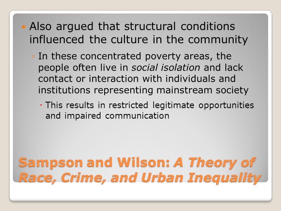 concentrated poverty and crime relationship