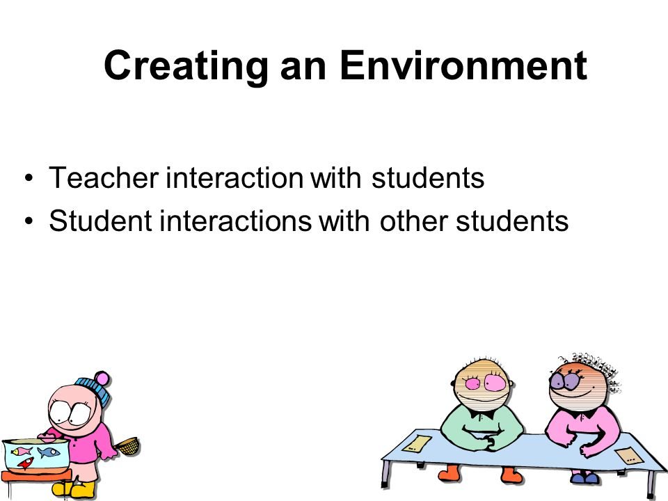 establishing the physical learning environment Chapter 3 establishing a classroom environment for literacy learning t he first day of school each year is filled with mixed emotions students arrive excited to see their friends and begin a new year but also hesitant to.