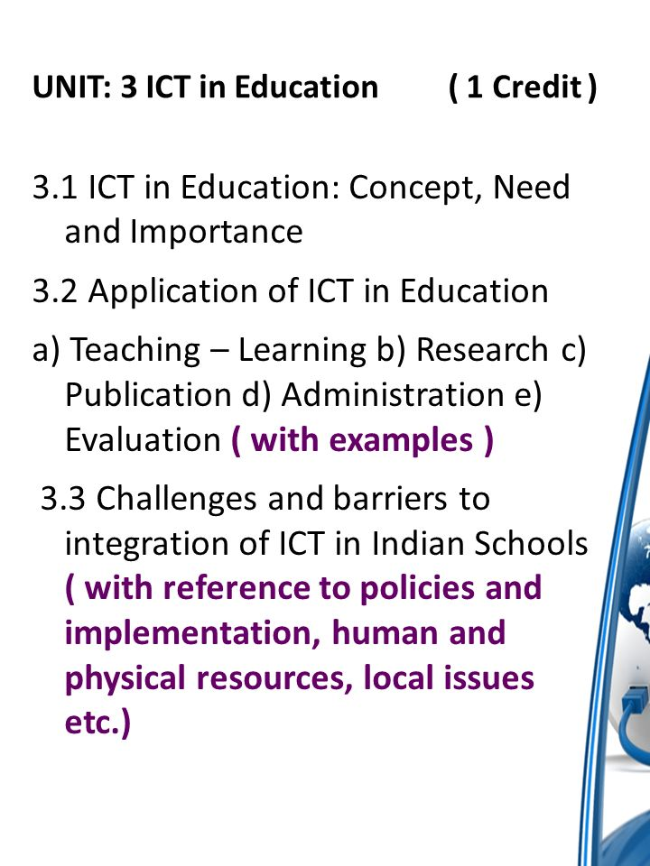 barriers in teaching ict This study investigates the teachers' perceptions of barriers to using information and communication technology (ict) in secondary schools in india even though the progress of ict for.