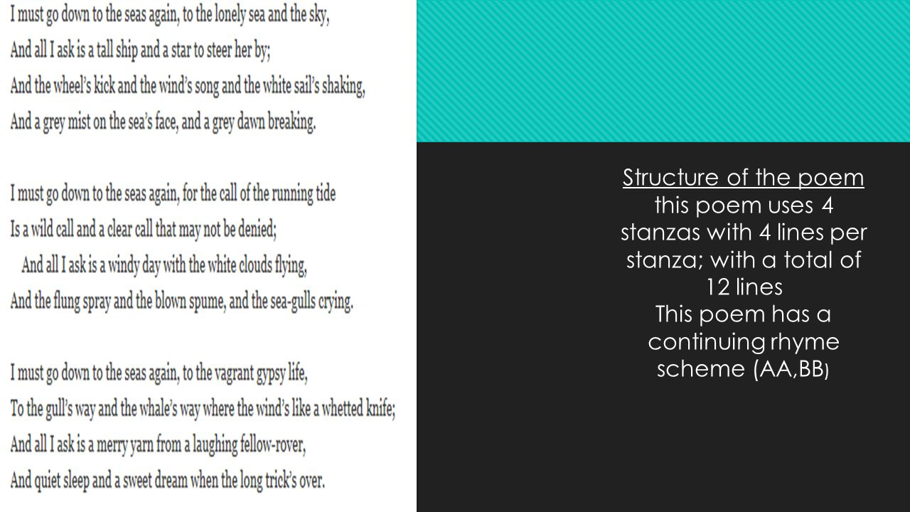 4 stanza poem with rhyme