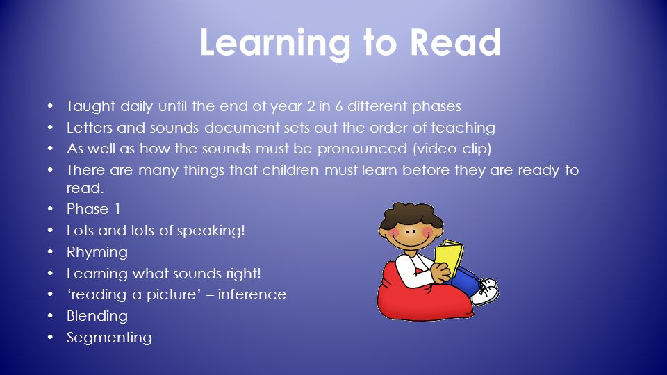 Learning To Read Taught Daily Until The End Of Year 2 In 6 Different Phases