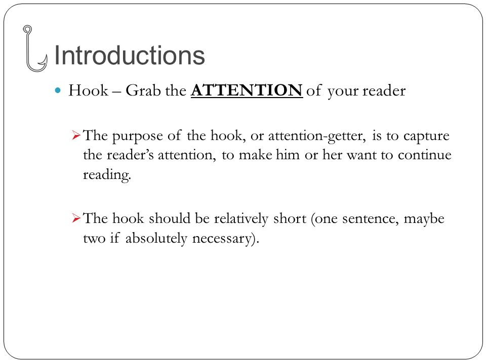 how to make a hook topic sentence for your essay