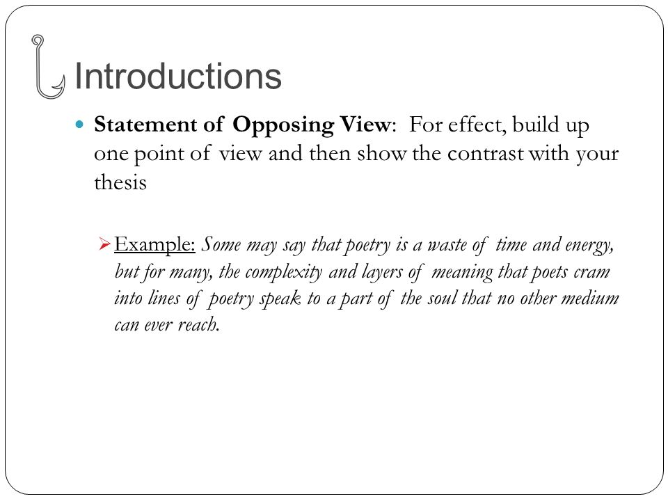 opposing point of view in essays Person in writing refers to how the stories in women's magazines are told from a female character's point of view (from the opposing.