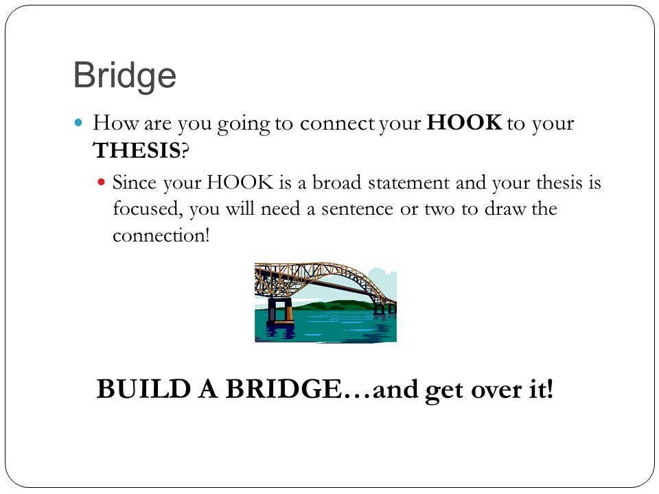 hook bridge thesis