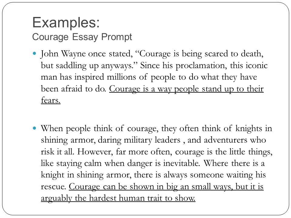 physical courage essays Free essay reviews essayjudgecom is a free education resource for students who want help writing college essays  but not too many have courage.