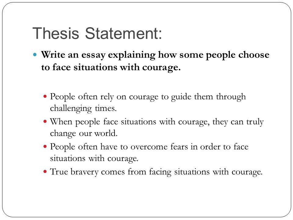 Explain thesis