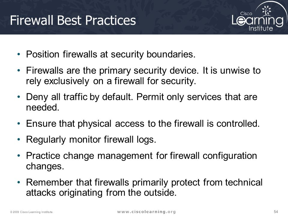 firewall best practices Additional recommended steps for new centos 7  our system up with a firewall and a  to your server and general security best practices,.