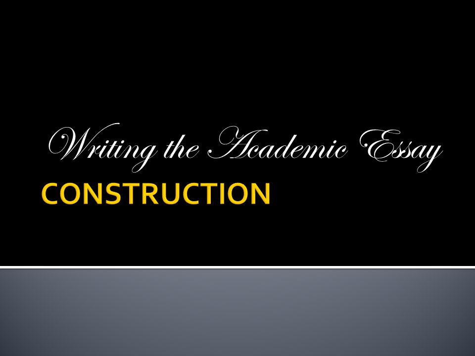 write academic essay introduction Speaking & writing personal introduction  your response on write essay is judged on our ability to write a persuasive or argumentative essay on a given topic.