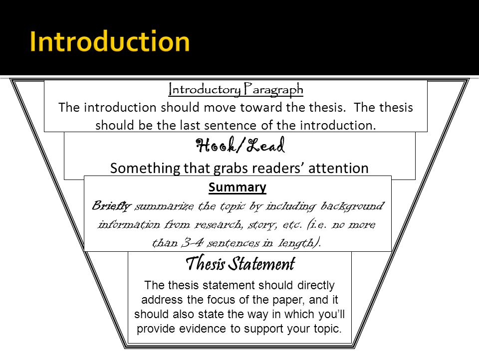 How To Write A Introduction Paragraph For A Research Paper