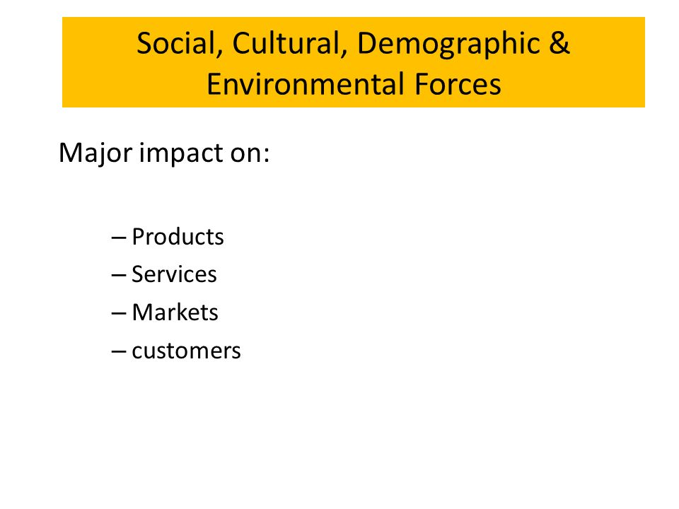 Social and cultural factors affecting business