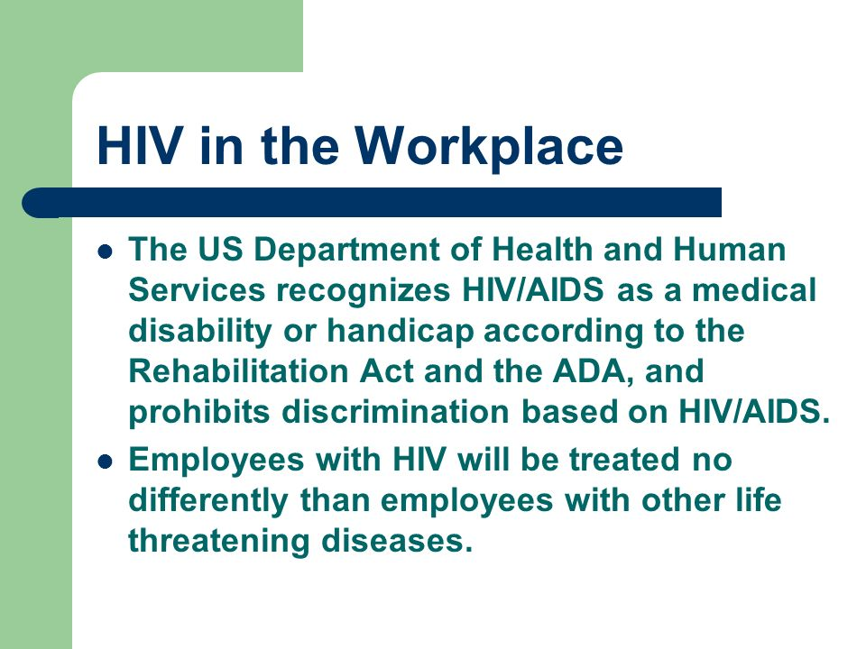 Aidshiv disability discrimination essay