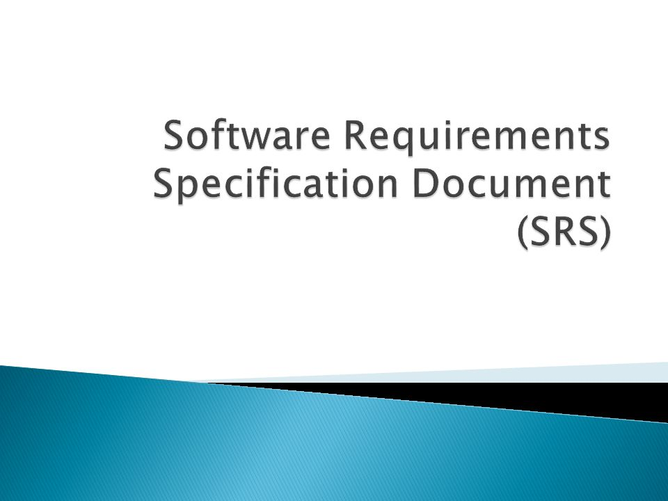 Software Requirements Specification Document (SRS)