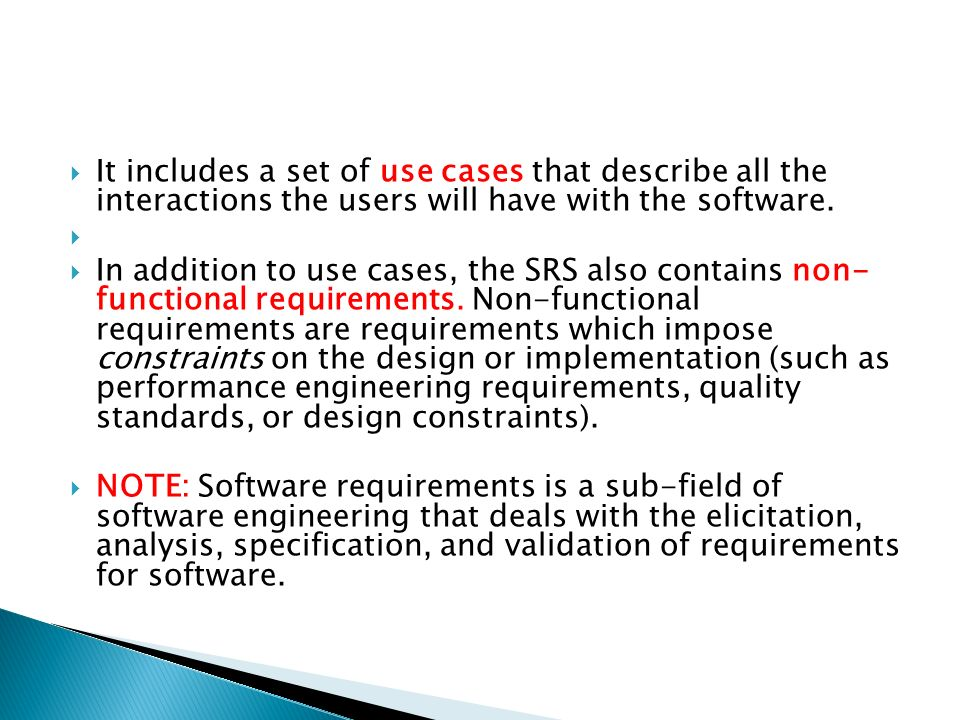 software requirement specification online education Requirements, software inspections and peer reviews, and project management  educational level, or experience  software requirements specification.