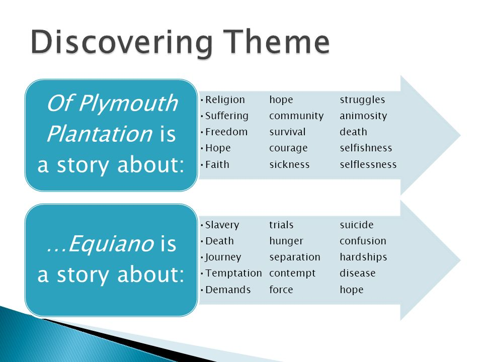 comparison contrast essay ppt  discovering theme of plymouth plantation is a story about