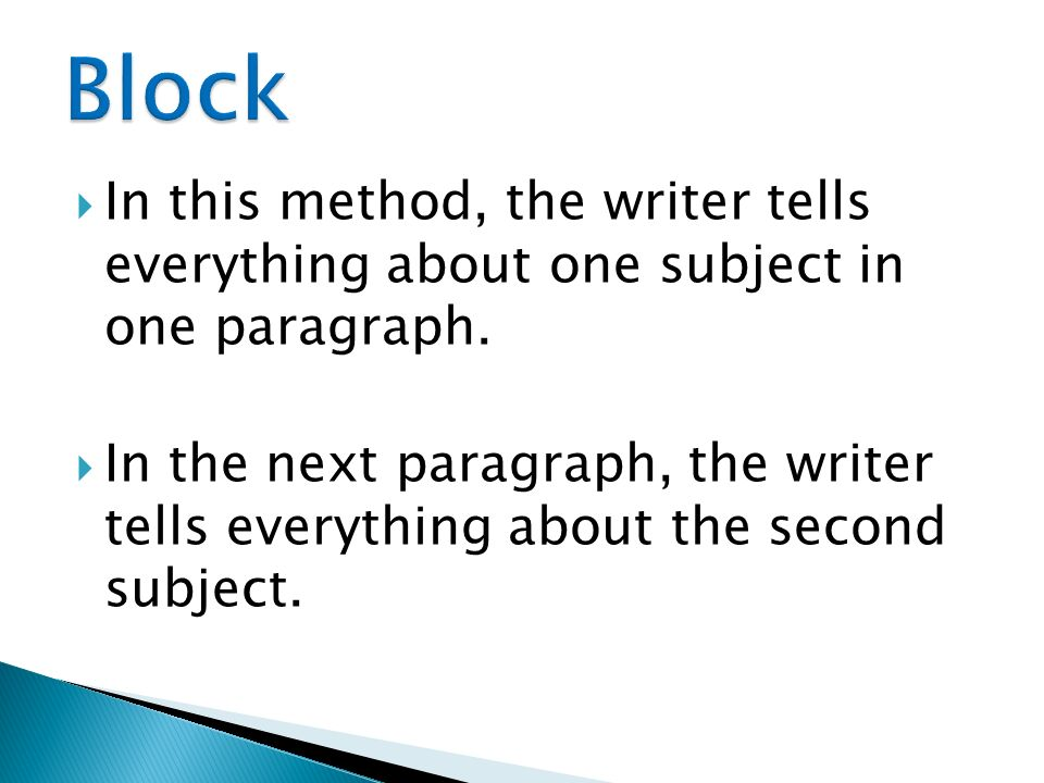 block method essay writing