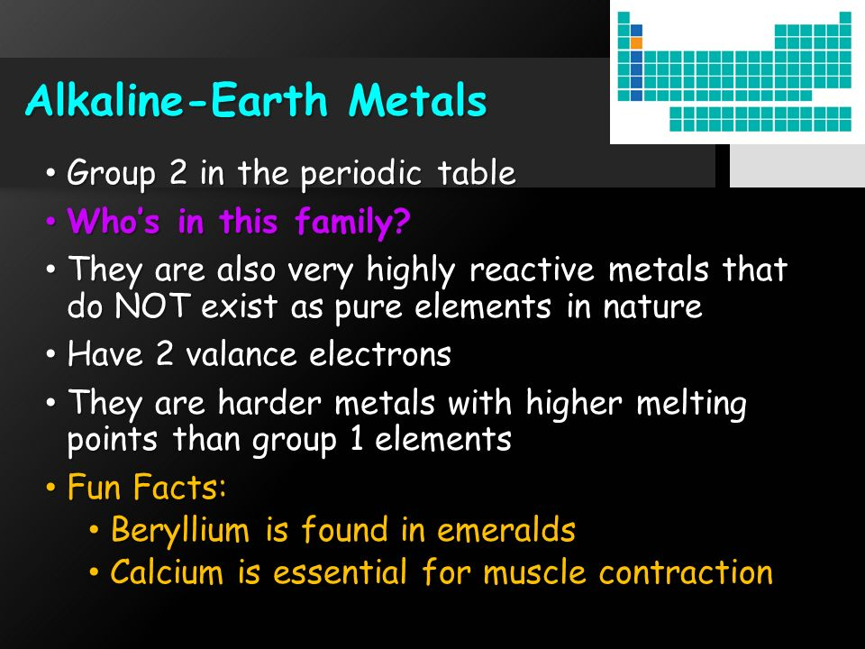 Element Families. - ppt download