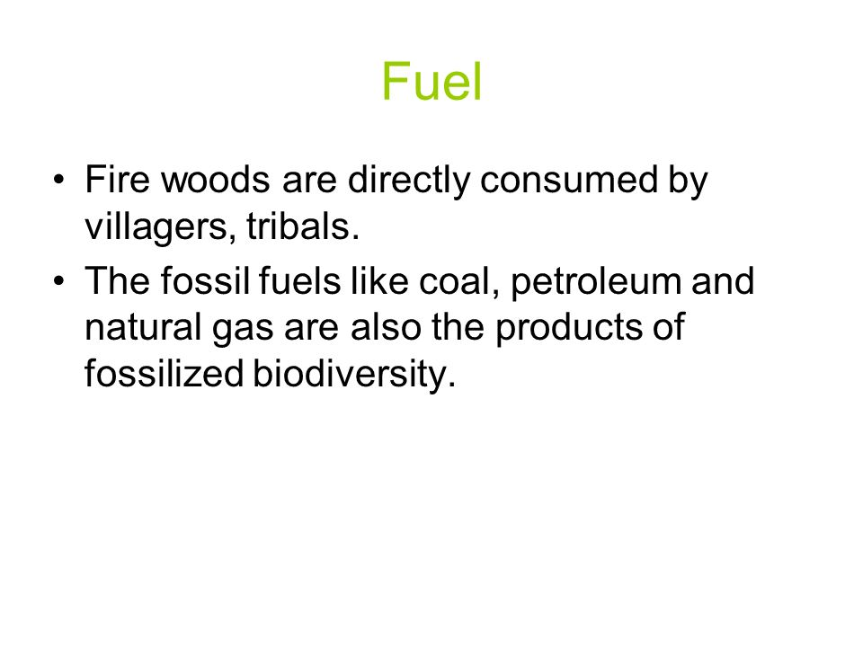 Fuel Fire woods are directly consumed by villagers, tribals.