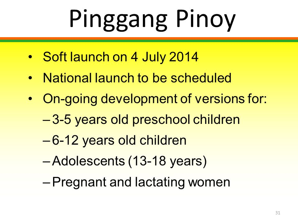 Pinggang Pinoy Soft launch on 4 July 2014