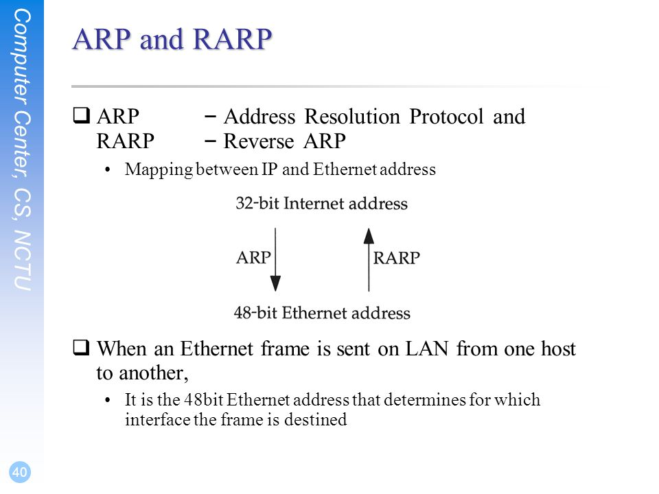 how to use arp command