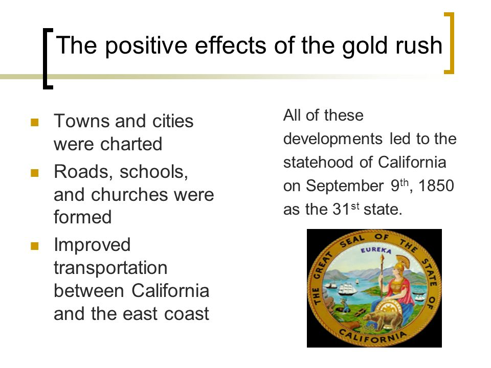 gold rush effects on gender Divorce denominations health & wellness women & feminism gender &   although by that time the gold rush had ended, there remained a strong  market  in california's commercial community, they started to exercise their  influence  one of the most civically-minded jews to come to california in the  gold rush.