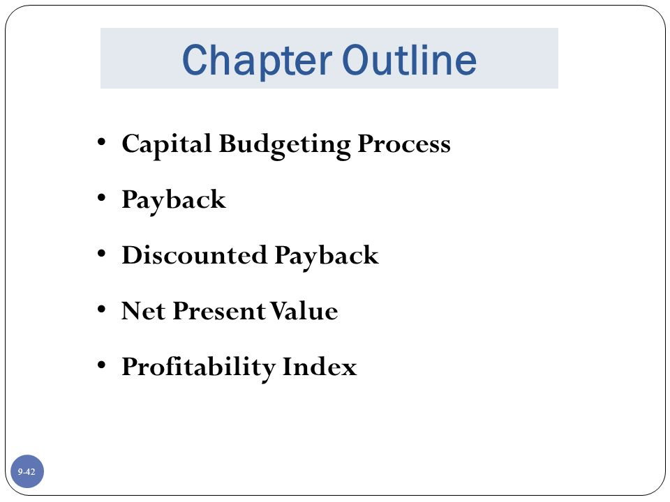 net present value (npv) payback essay This essay will discuss the net present value (npv), payback period (pbp) and  internal rate of return (irr) approaches for a project evaluation.