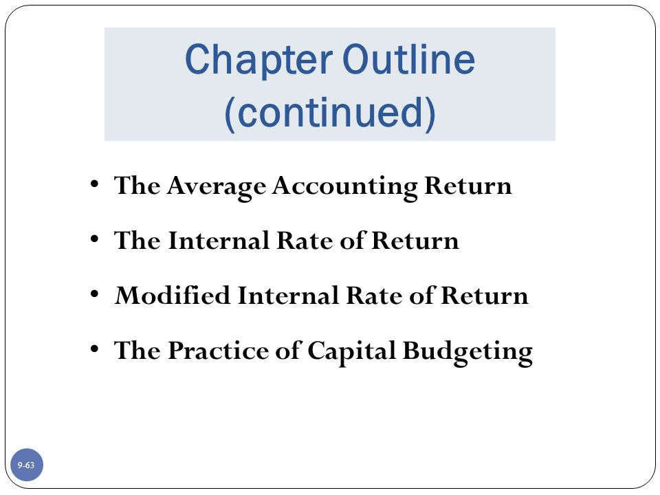 what is accounting rate of return pdf