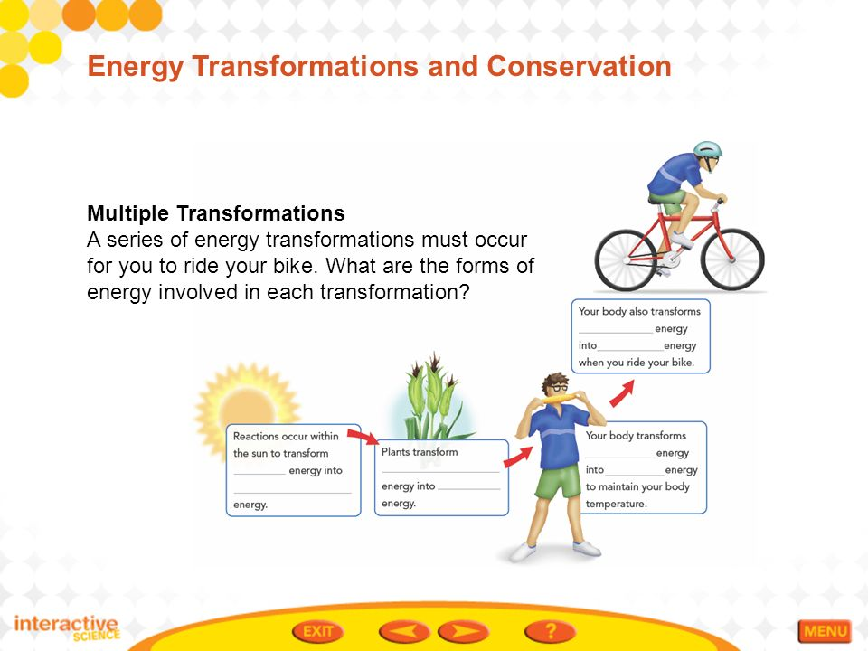 conservation of energy and transformation The law of conservation of energy can be  and you can apply conservation of mechanical energy simply in terms  the transformation of energy.