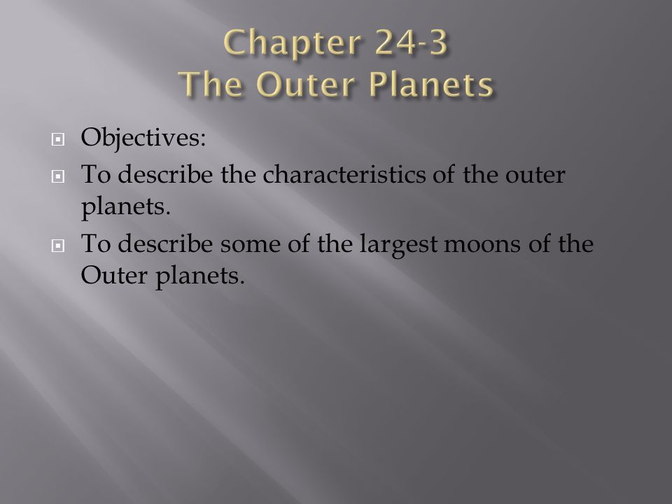 characteristics of the outer planets - photo #6