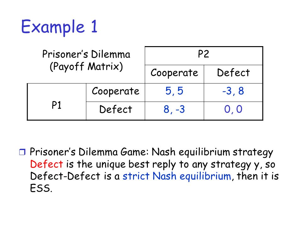 Lecture 3: two-person non zero-sum games - ppt video online download