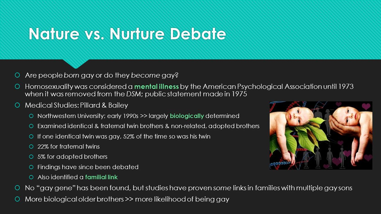 nature vs nurture The concept of nature vs nurture is one of the cornerstones of psychological theory and research in fact, some human development textbooks use nature-nurture.