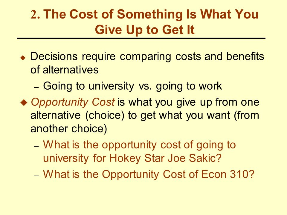 what are the opportunity costs of getting your degree Is a college education worth it  and delays graduates from saving for  retirement, buying a house, or getting married  and that many jobs, especially  trades jobs, do not require college degrees  the total cost of going to college  also includes the cost of missing opportunities to make money at a job.