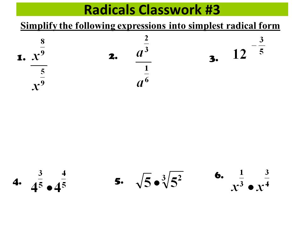 Simplifying Radicals Binomial Conjugate: - ppt video online download