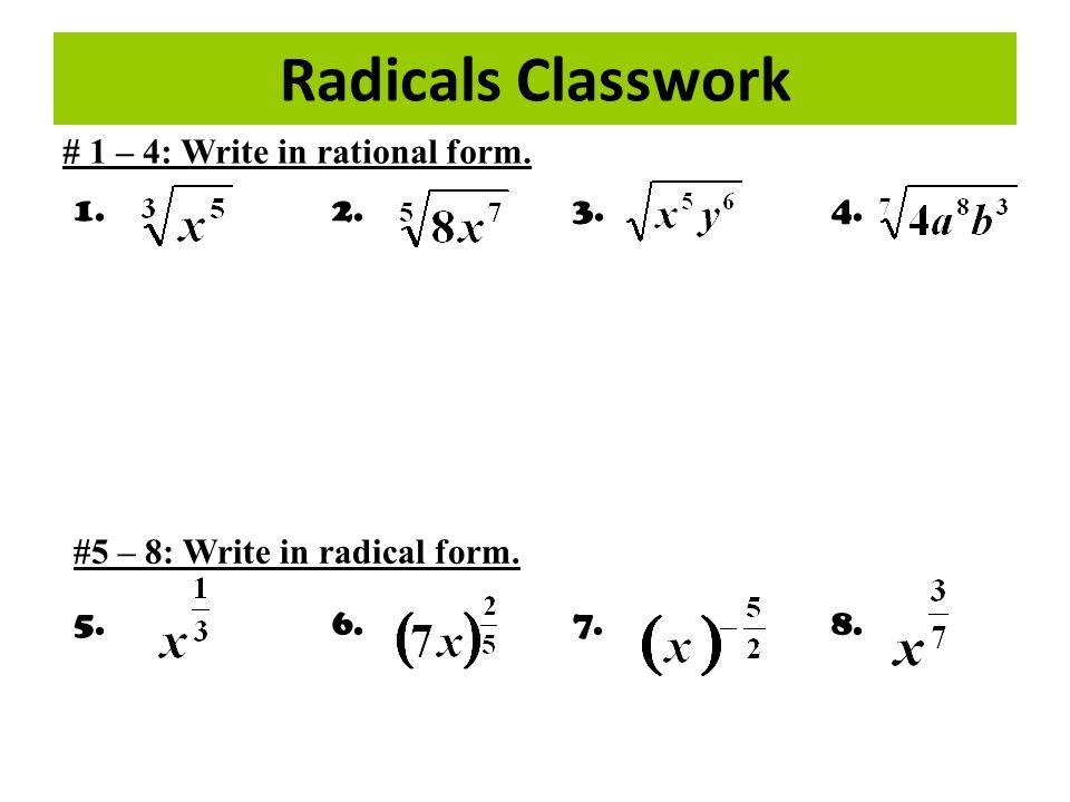 Simplifying Radicals Binomial Conjugate: - ppt video online download