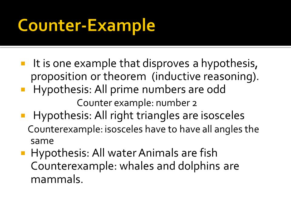 inductive hypothesis example For deductive reasoning to be sound, the hypothesis must be  an example of inductive  that doesn't fit in with inductive or deductive reasoning is .