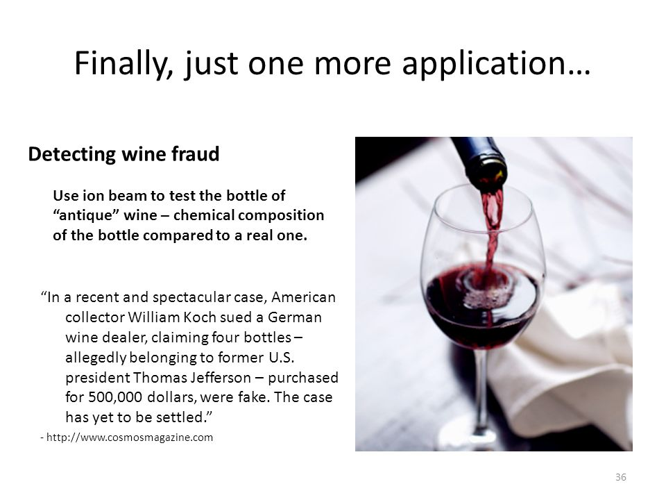 14c dating and wine fraud