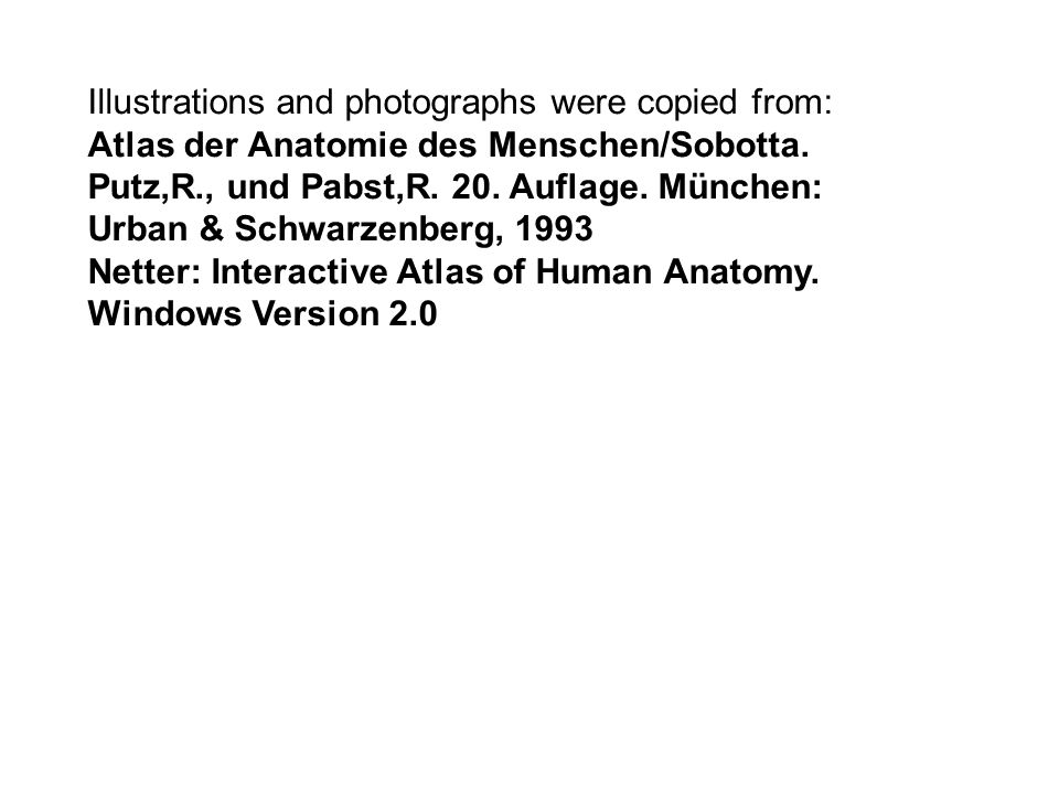 Illustrations and photographs were copied from: