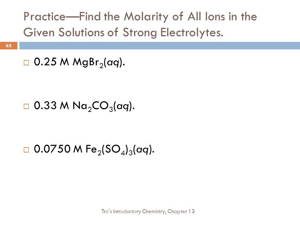 how to find molarity of ions